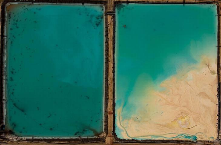 תמונות מדהימות מתחרות צילום של הסמיתסוניאן: בריכה תעשייתית שמופרדת ל-2 חלקים ומצולמת מלמעלה