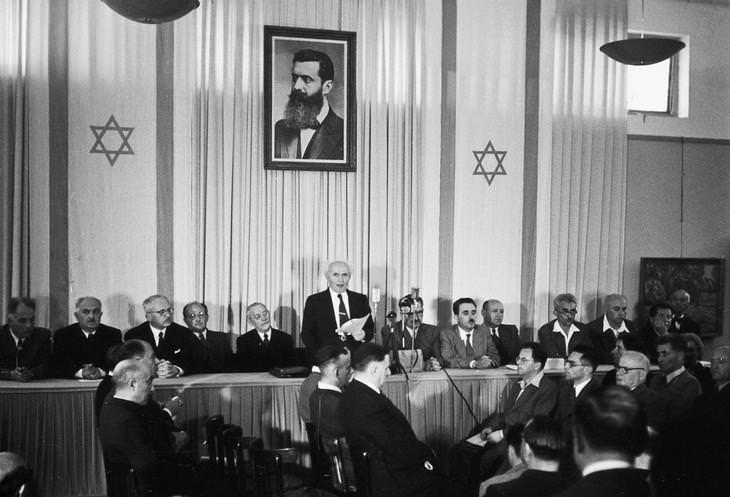 70 שנה לישראל, דוד אשל - הכרזת העצמאות של מדינת ישראל