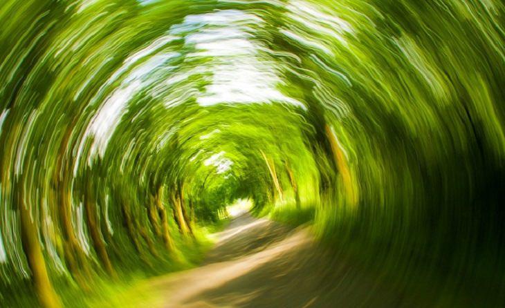 כיצד ניתן לטפל בסחרחורת: נוף מצולם בתנועת סחרחורת סיבובית