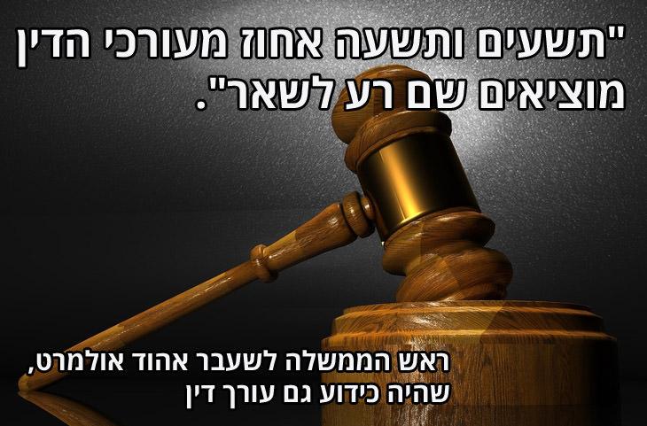"""ציטוטים מביכים של פוליטיקאים ישראלים: """"תשעים ותשעה אחוז מעורכי הדין מוציאים שם רע לשאר"""". אהוד אולמרט"""