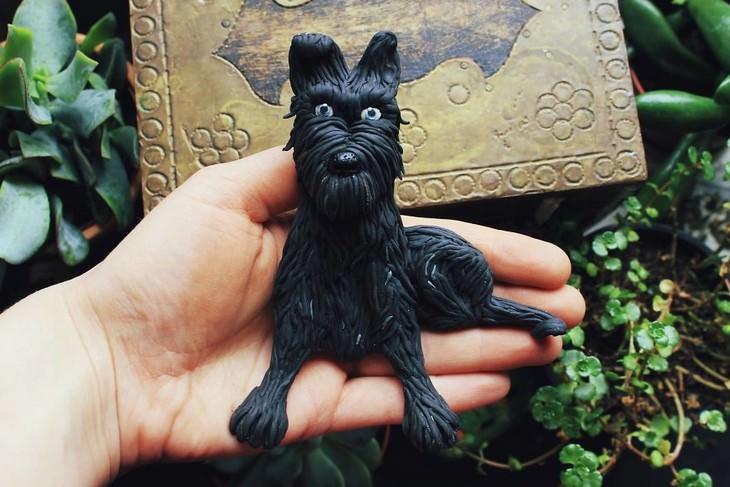 פסלי חימר של חיות: כלב