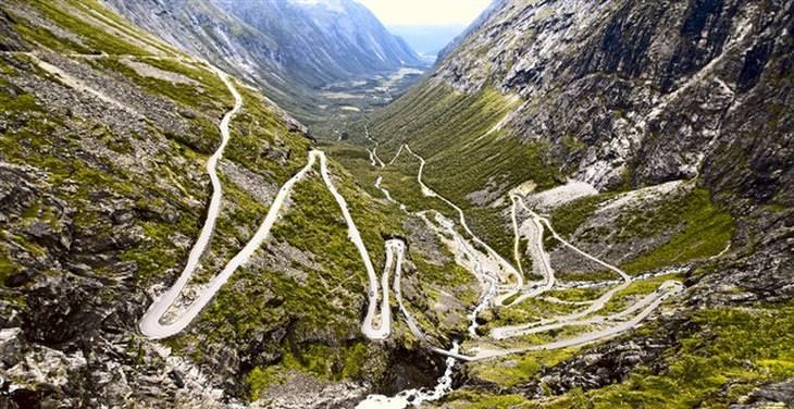 תמונות מפתיעות: כביש בטרולסטיגן, נורווגיה