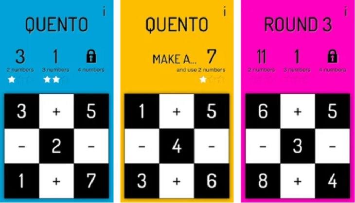 אפליקציות לחיזוק החשיבה: צילומי מסך מתוך אפליקציית Quento