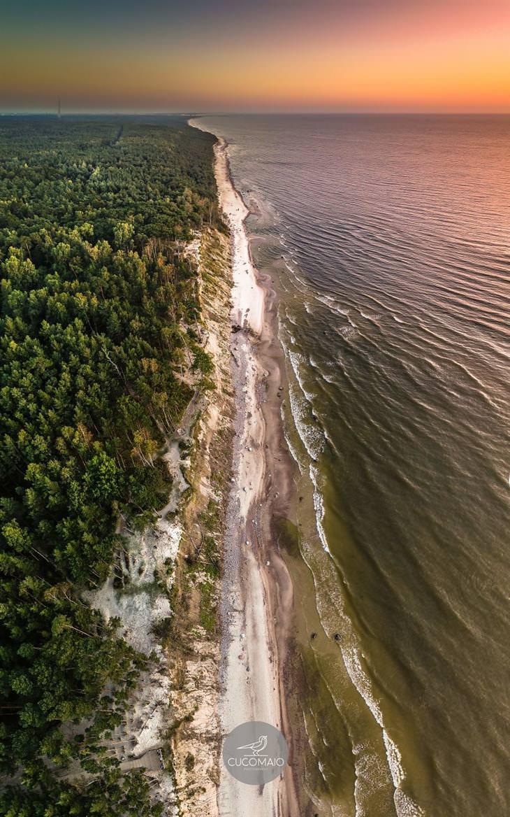 תמונות אוויריות מדהימות של ליטא: הים הבלטי וקו החוף שלו