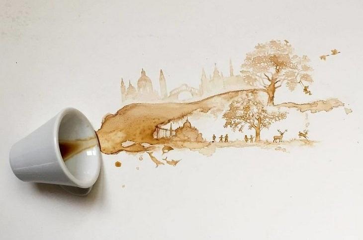 אומנות קפה: ילדים משחקים בפארק