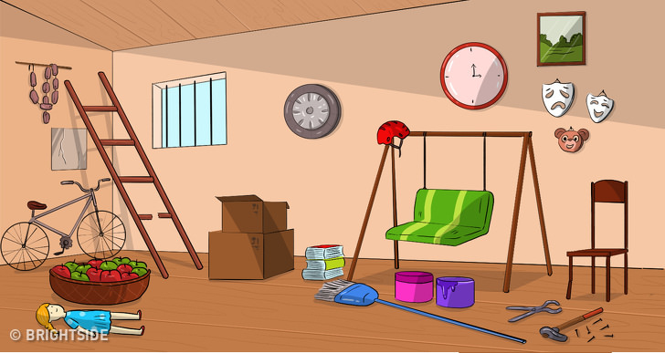 התבוננו בחדר ובחרו חפץ: חדר מלא חפצים