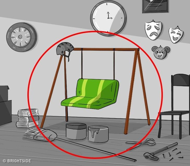 חדר מלא חפצים: כיסא נדנדה