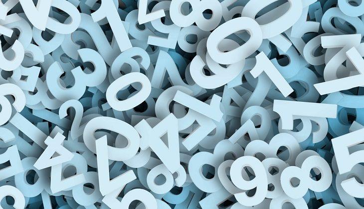 עובדות מפתיעות על המוח: ערימה של מספרים