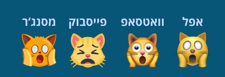 אימוג'ים: פני חתול עייף