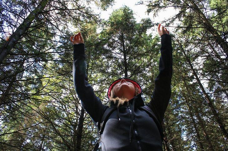 מסרים שגויים בסרטי דיסני: אישה מרימה את ידיה לאוויר בין עצים