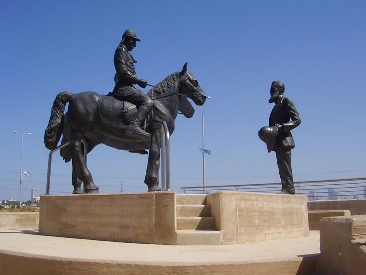 פסלים בישראל: פסל פגישת הרצל והקיסר וילהלם השני