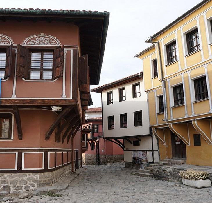 בולגריה: בתים בעיר העתיקה פלובדיב בבולגריה