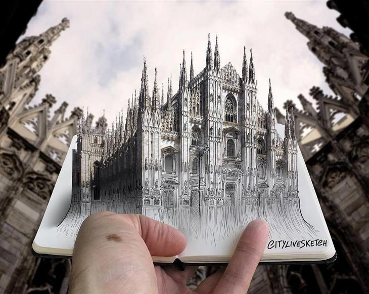 ציורי תלת ממד: הקתדרלה של מילאנו