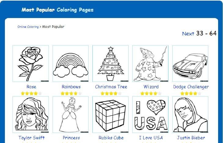 דפי צביעה אונליין: עמוד דפי הצביעה הפופולריים ביותר באתר TheColor.com