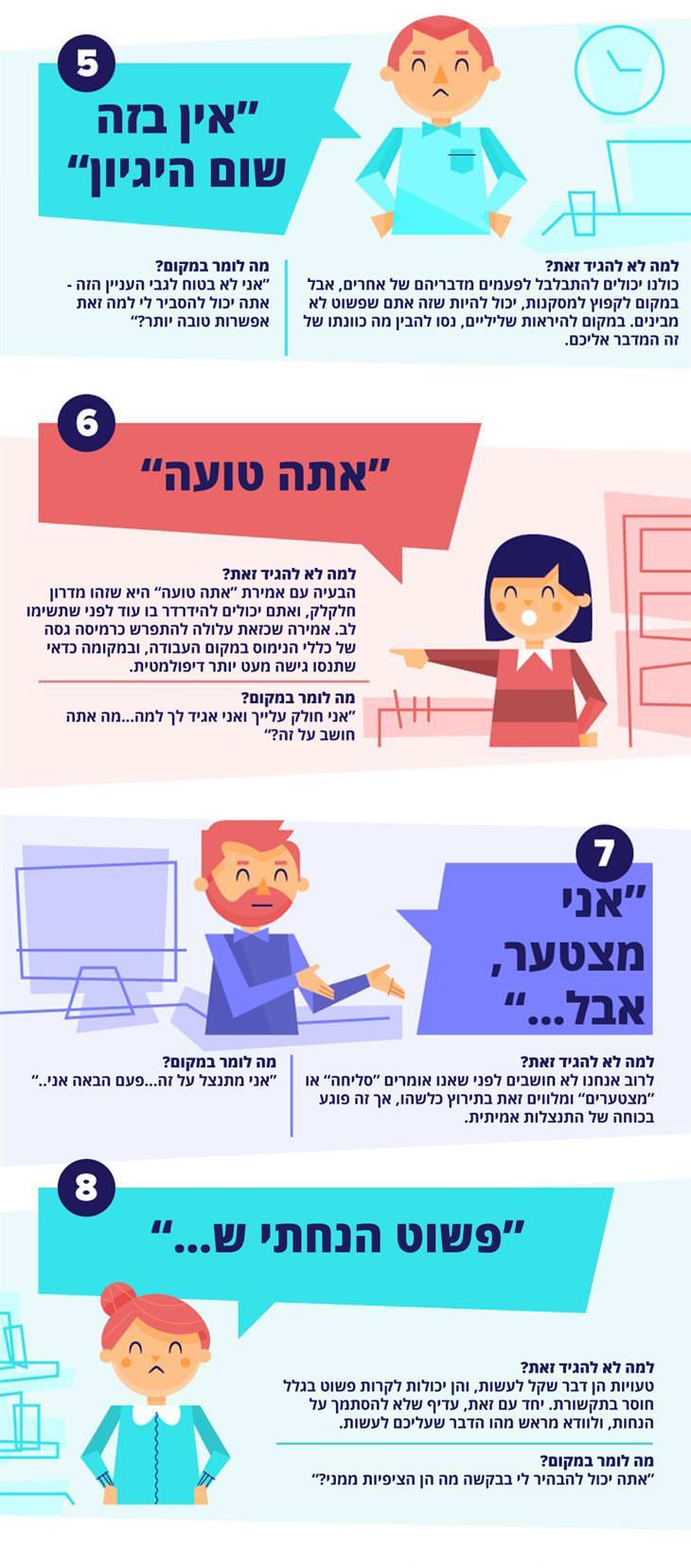 המדריך לדברים שאסור להגיד במקום העבודה ומה להגיד במקומם