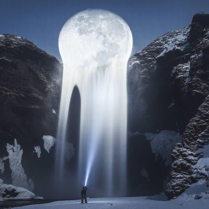 תמונות של האמן ג'סטין פטרס: מפל ירח