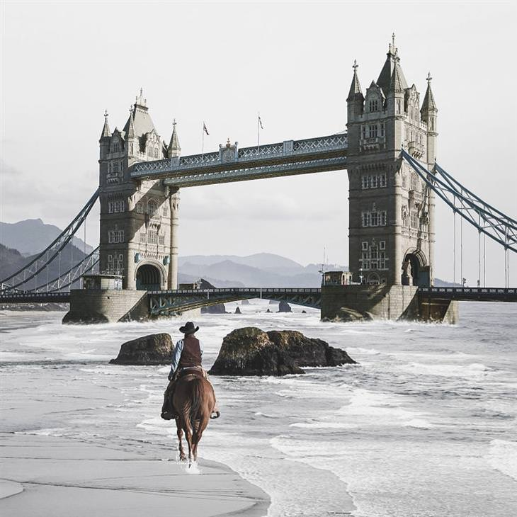 תמונות של האמן ג'סטין פטרס: לונדון במאה ה-19