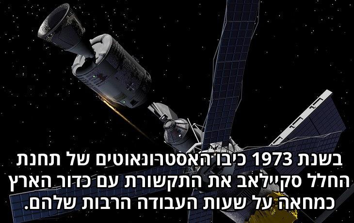 עובדות משעשעות: בשנת 1973 כיבו האסטרונאוטים של תחנת החלל סקיילאב את התקשורת עם כדור הארץ כמחאה על שעות העבודה הרבות שלהם.