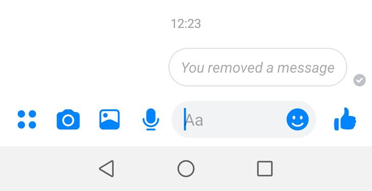 כך תמחקו הודעות בפייסבוק מסנג'ר: כיתוב שמודיעה כי ההודעה נמחקה