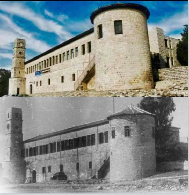 מקומות בישראל בעבר ובהווה: בית הסראיה בצפת - 1948 לעומת 2017