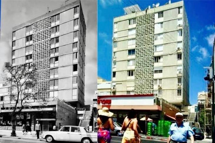 מקומות בישראל בעבר ובהווה: המרכול הראשון בישראל ברחוב בן יהודה, תל אביב - 1958 לעומת 2015