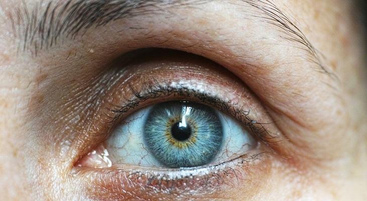 יתרונות הארוניה: צילום תקריב של אישון עין