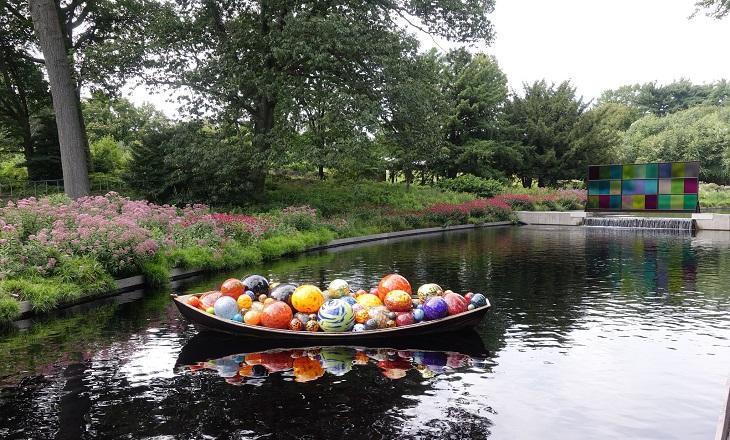 גנים בוטניים בניו יורק: סירה באגם