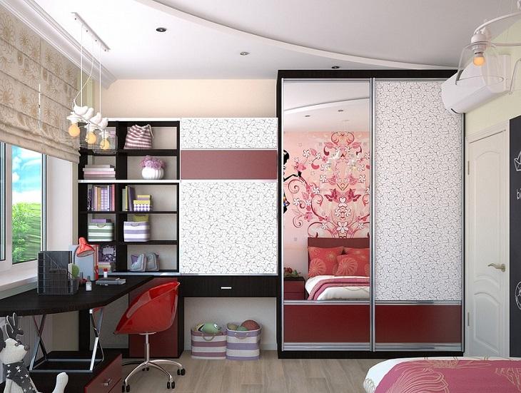 ניקוי חדרי ילדים: חדר ילדה מסודר