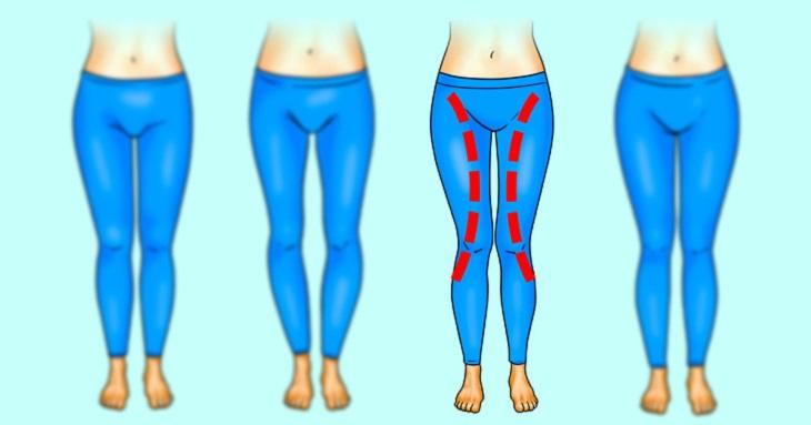 תרגילי כושר לפי מבנה רגליים: מבנה גוף בצורת X