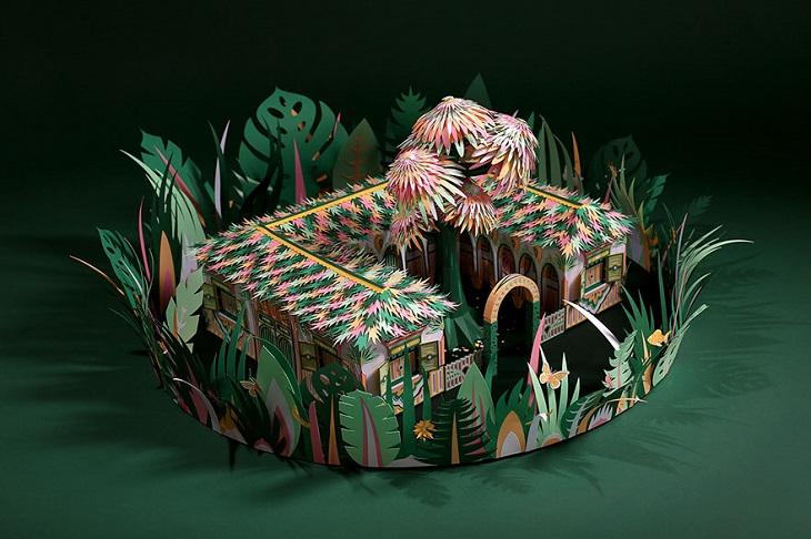 יצירות מנייר: בית בג'ונגל