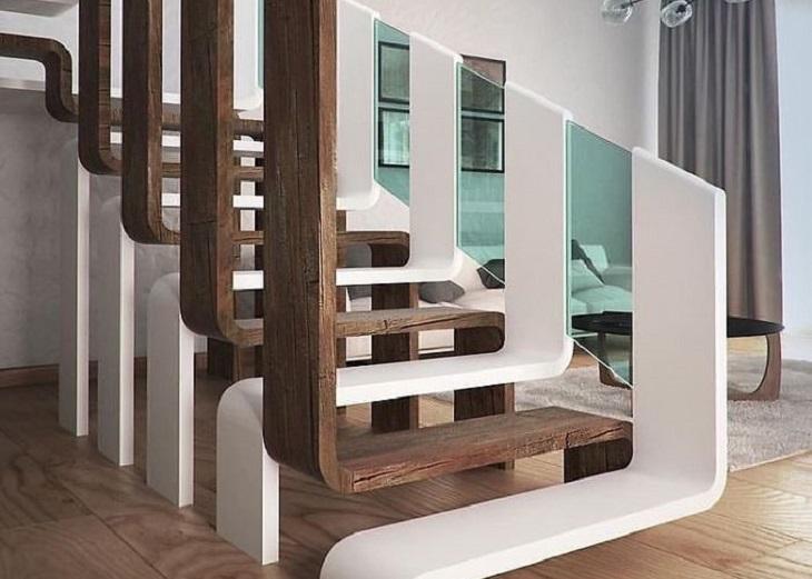 רהיטים בעיצוב מיוחדים: גרם מדרגות בעיצוב מיוחד