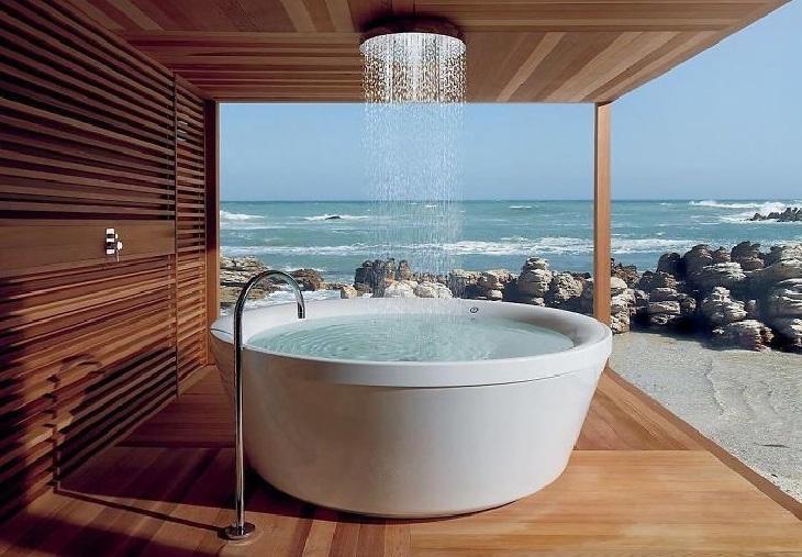 רהיטים בעיצוב מיוחדים: חדר רחצה של 360 מעלות