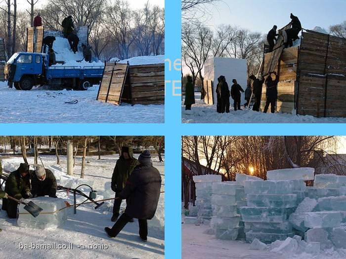 פסטיבל, קרח, סין, חרבין, פיסול, אמנות