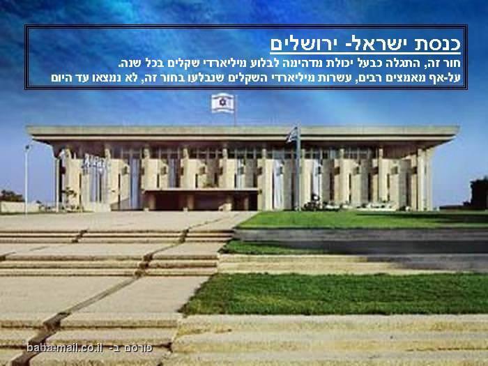 כנסת ישראל, ירושלים, מקומות בעולם