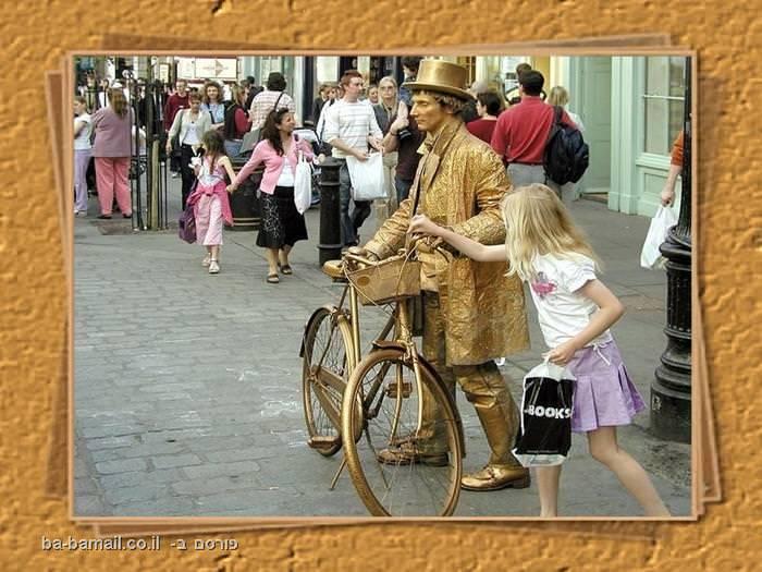 מופע רחוב, מופע, איש מפוסל, אמן מפוסל, מופע, אופניים
