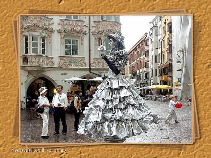 מופע רחוב, מופע, איש מפוסל, אמן מפוסל, מופע, גברת מפוסלת, אירופה