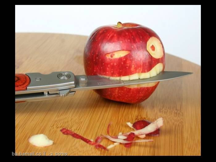 אוכל, אוכל מצוייר, שעשועים עם אוכל, תפוח