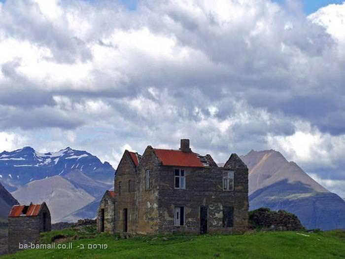 איסלנד, קרחונים, בית מבודד