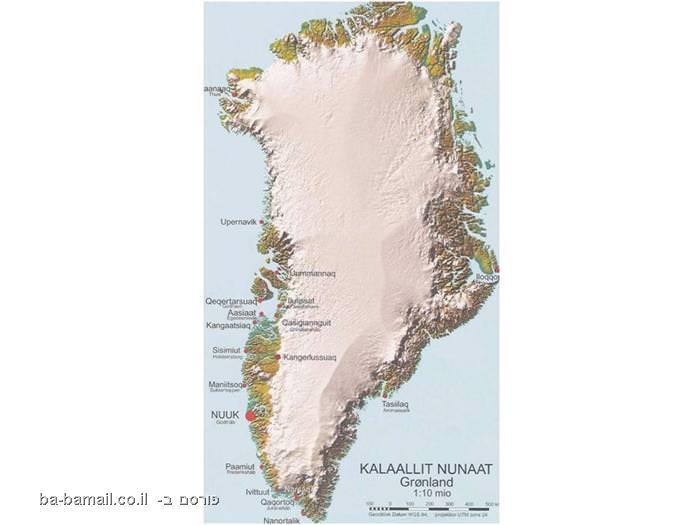 גרינלנד, אי, טיול, קרחונים
