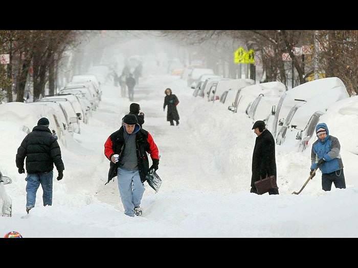ואנחנו מתלוננים על קור? תראו את החורף בניו-יורק!