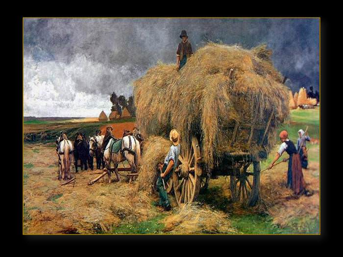 ציורים של החיים בכפר