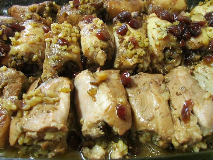 מתכון לעוף במילוי בורגול מהבלוג אוכל כשר כורדי ומזרחי