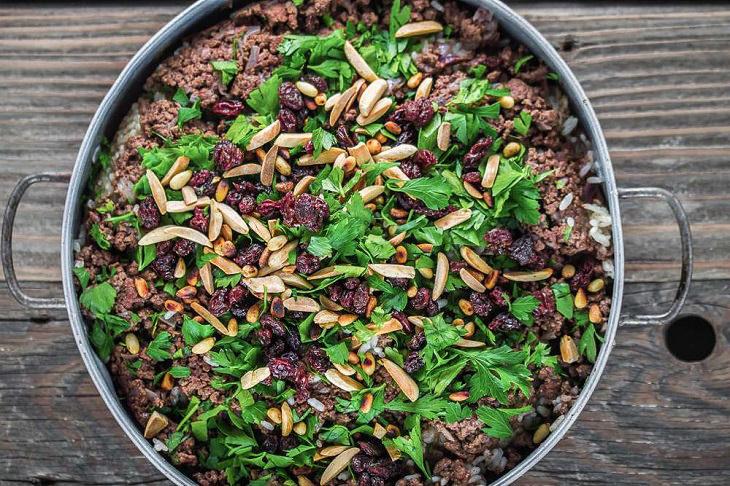 מתכון לאורז עם בשר טחון בסגנון לבנוני