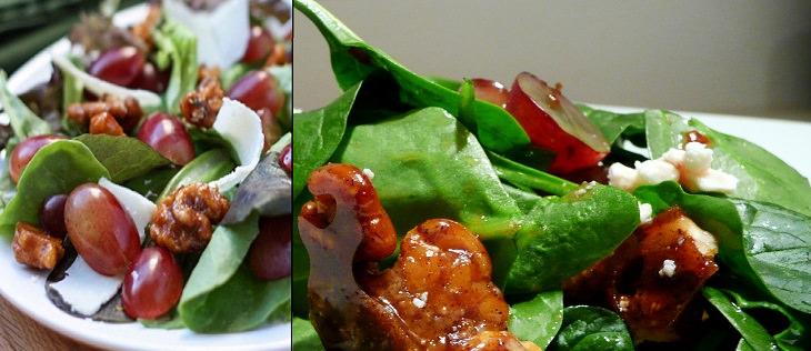 מתכון לסלט ענבים ואגוזים