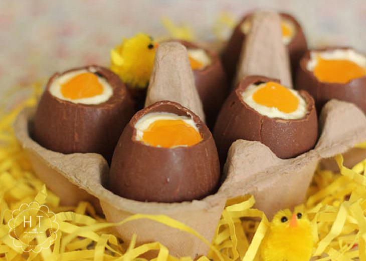 מתכון לביצי שוקולד וגבינה