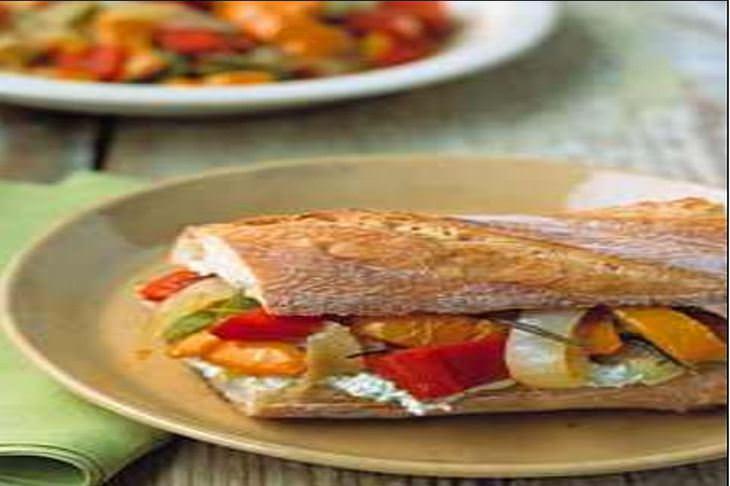 מתכון לסנדוויץ פלפלים וגבינת עיזים
