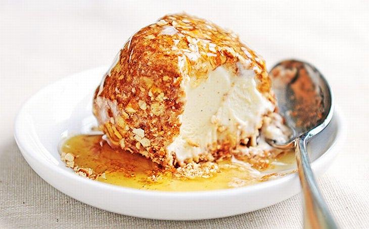 מתכון לגלידה עם ציפוי פריך
