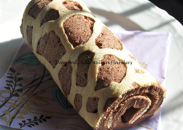 מתכון לעוגת רולדה עם הדפס פראי במיוחד