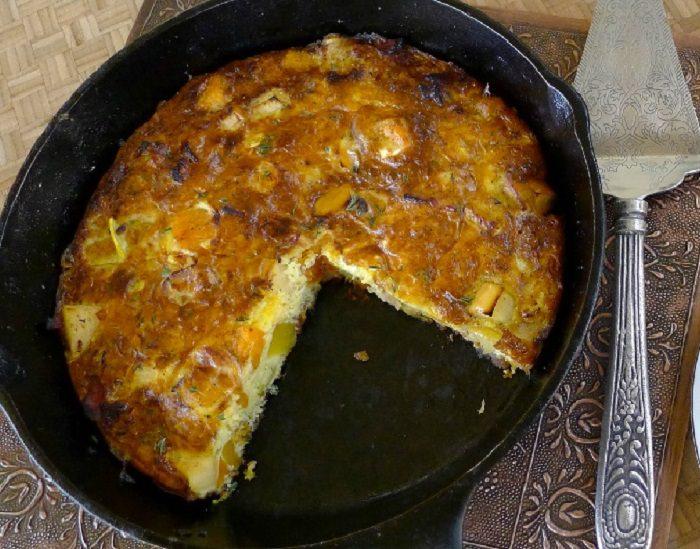 מתכון לפשטידת גבינות, חלפיניו ותפוחי עץ