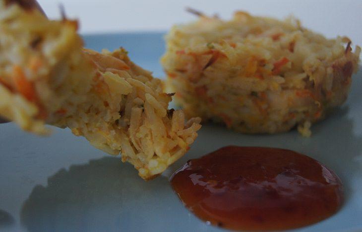 מתכון לקציצות אורז עם גבינת צ'דר